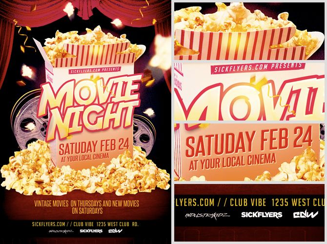 Movie Night Flyer Template  Flyerheroes  Kids Party