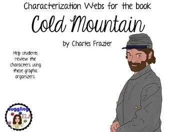 23 Characterization Webs For The Book Cold Mountain By Charles Frazi English Language Arts High School Teaching High School English Middle School Ela Classroom