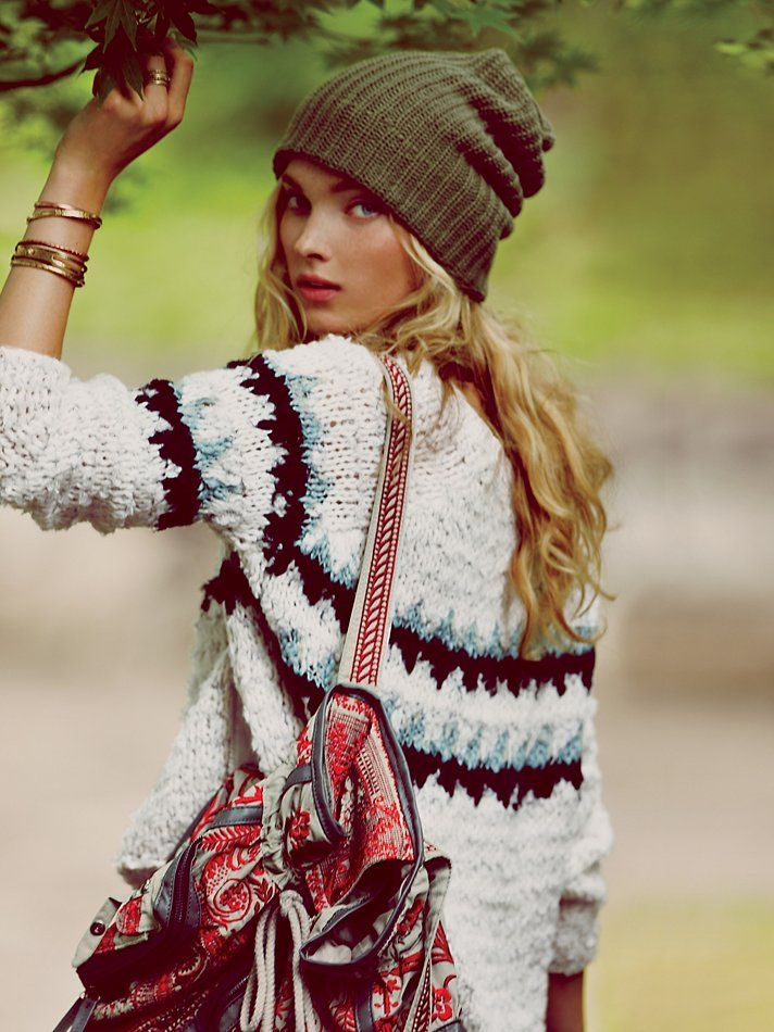 Free People Fuzzy Fairisle Pullover at Free People Clothing ...