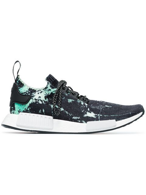 ADIDAS ORIGINALS black, green and white NMD_R1 marble