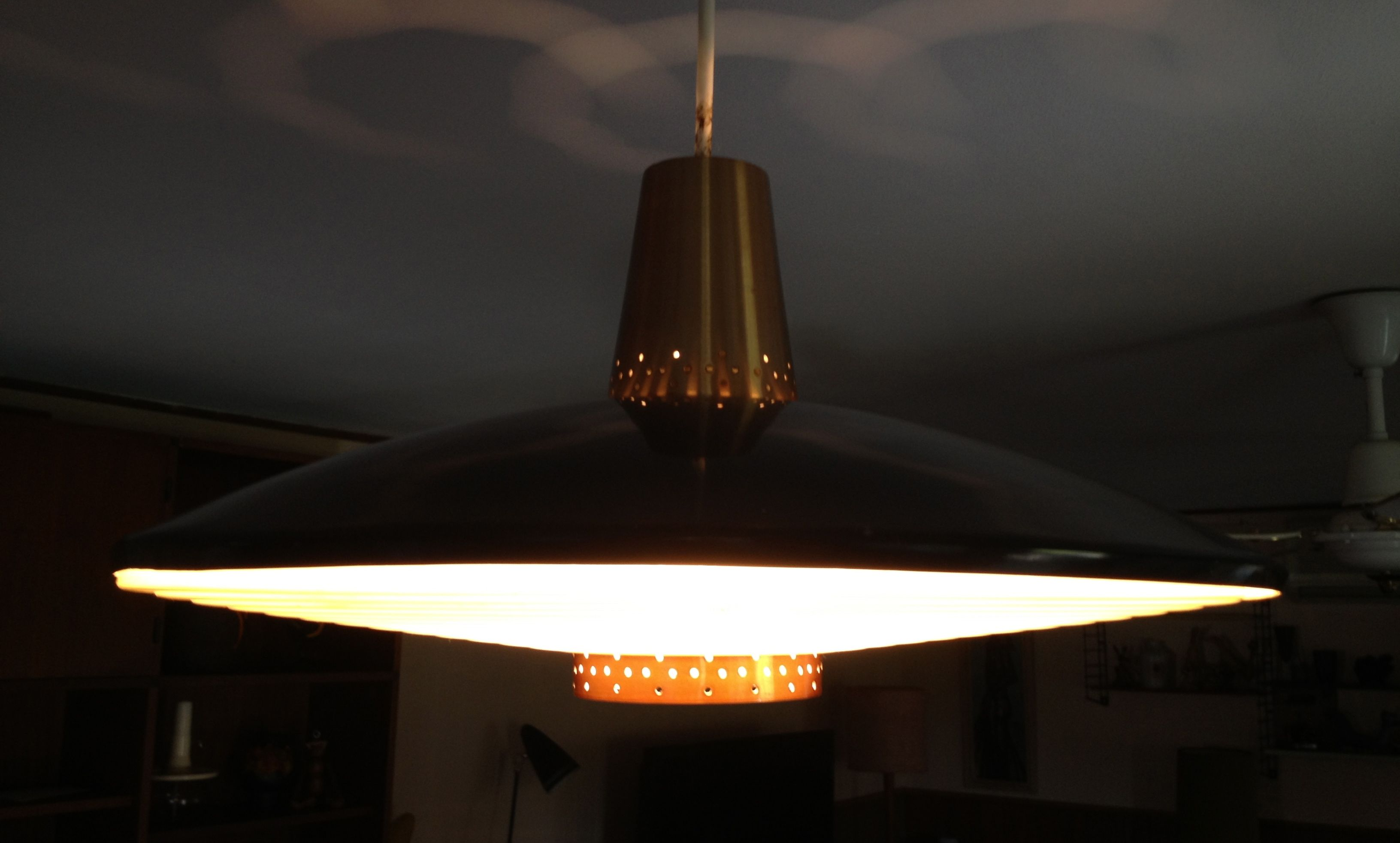 Flying Saucers Exist Mid Century Beco Atomic Pendant Light