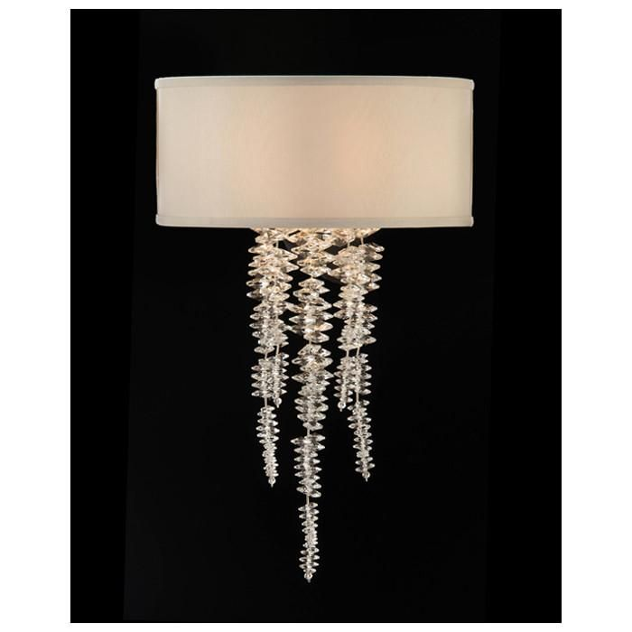John Richard Cascading Crystal Waterfall Single Light Sconce