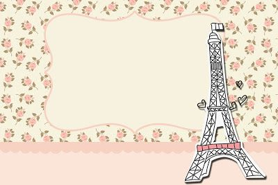 Paris Floral – Kit Completo com molduras para convites, rótulos para guloseimas, lembrancinhas e imagens!   Fazendo a Nossa Festa