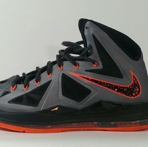 93778164ce29 I just discovered this while shopping on Poshmark  LeBron X 10 Lava men s  basketball shoes. Check it out! Price   125 Size  13