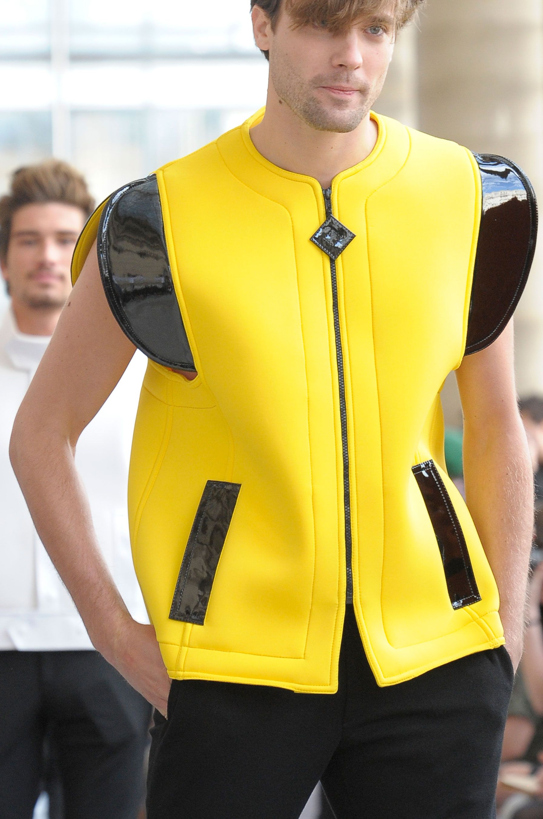 Nicolas Bemberg, Pierre Cardin SS 2013. Any outfit, any color, any style. It all works on him.