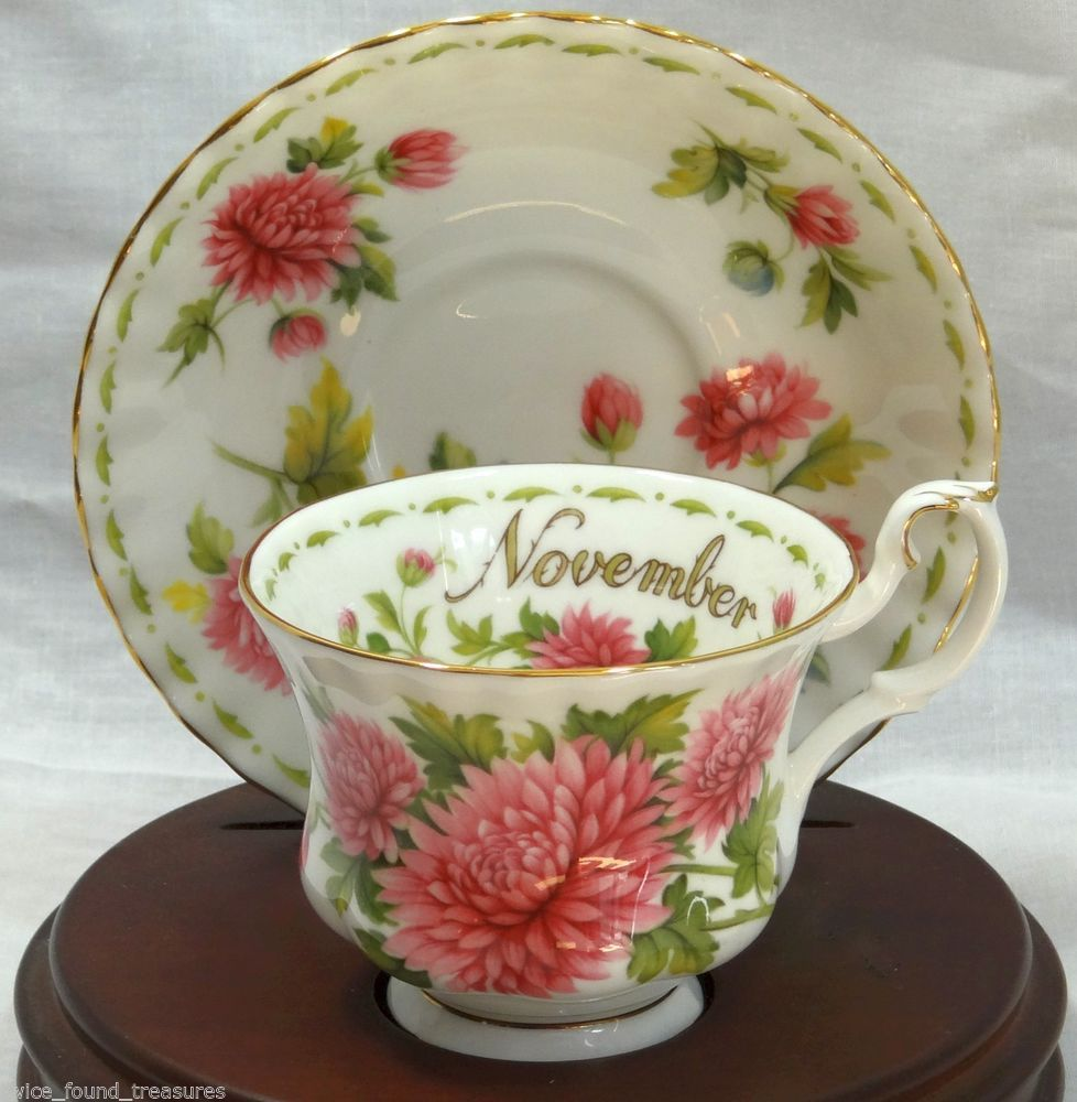 Teacup & Saucer Royal Albert Flower of the Month November