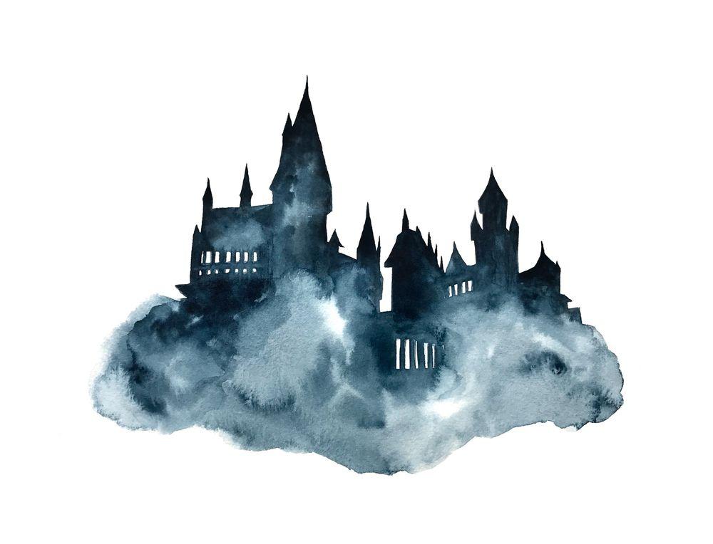 Hogwart Castle Watercolor Art Print