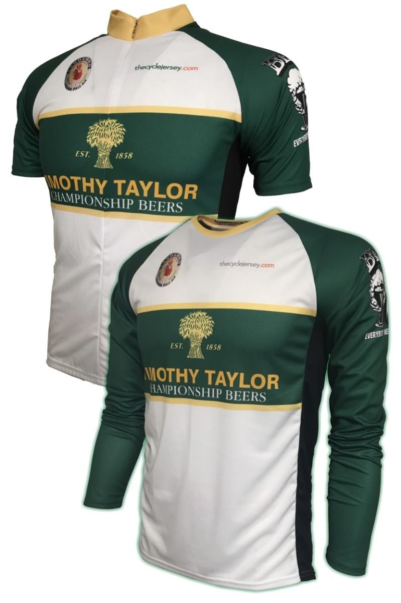 Advertise your love for real ales with this superb Timothy Taylor  Championship Beer cycling shirt. 5b105aa9e