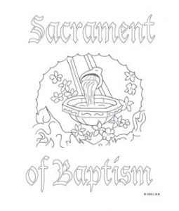 Very Nice Baptism Coloring Page To Keep The Little Ones