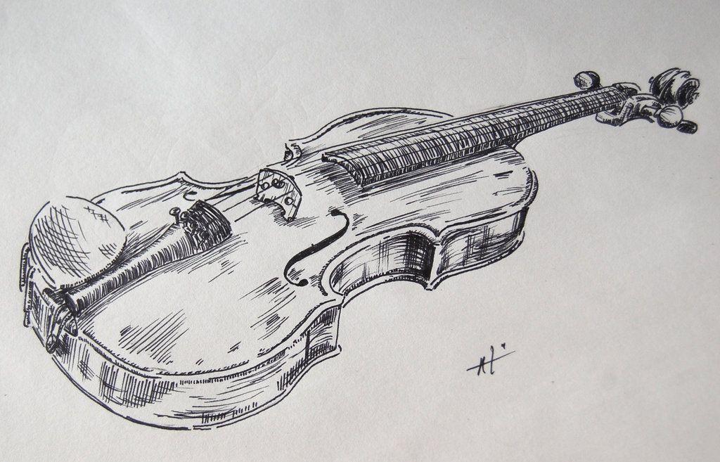 simple violin sketch - Buscar con Google | Draw ...