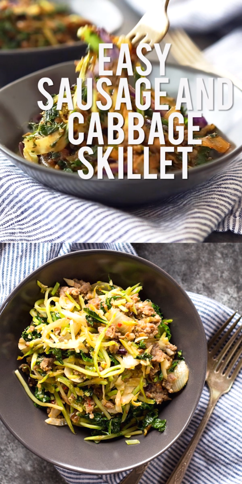 Sausage and Cabbage Skillet images