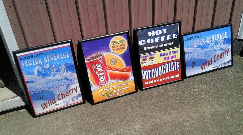 4 vintage movie theater concession stand food advertising