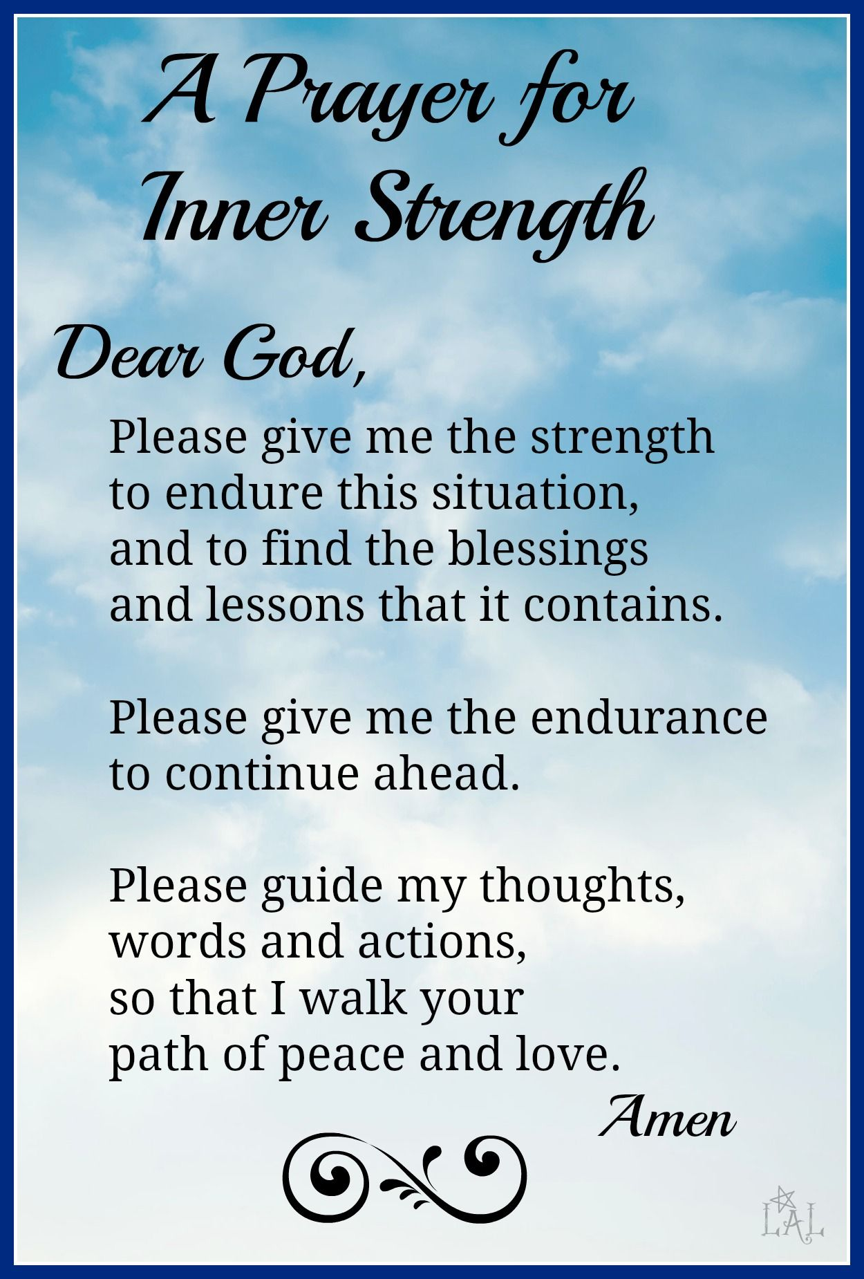 Prayer Quotes Extraordinary Prayer For Inner Strength  Strength Quotes Strength And Blessings Design Decoration
