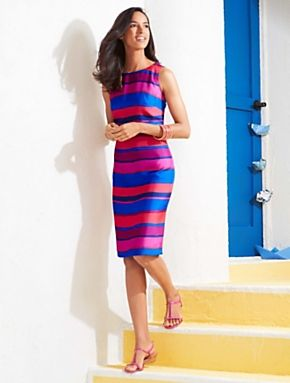 dbf156a32bb Bold Stripe Sheath. Vibrant stripes.
