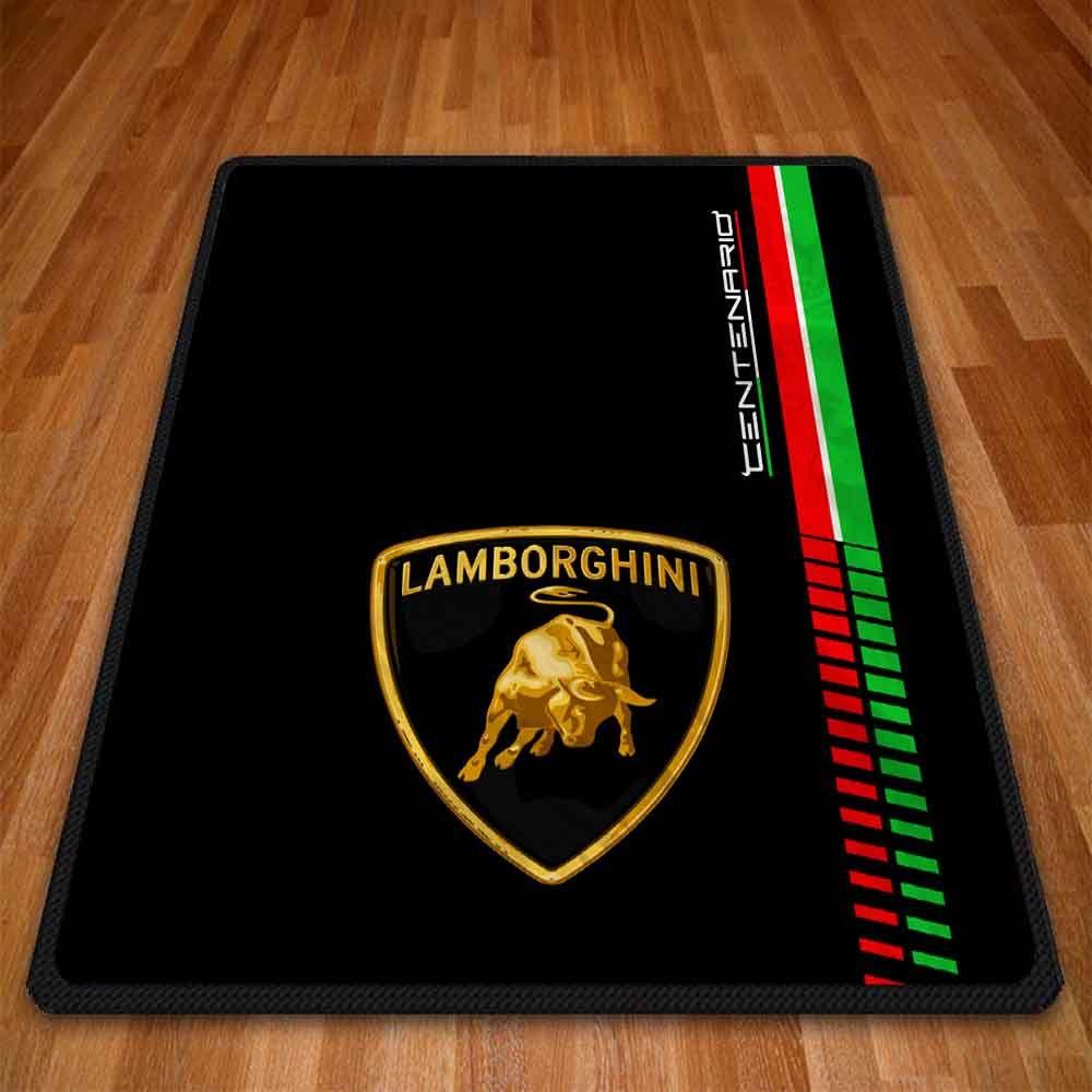 Lamborghini Centenario Perfection Italian Stripe Print On Fleece