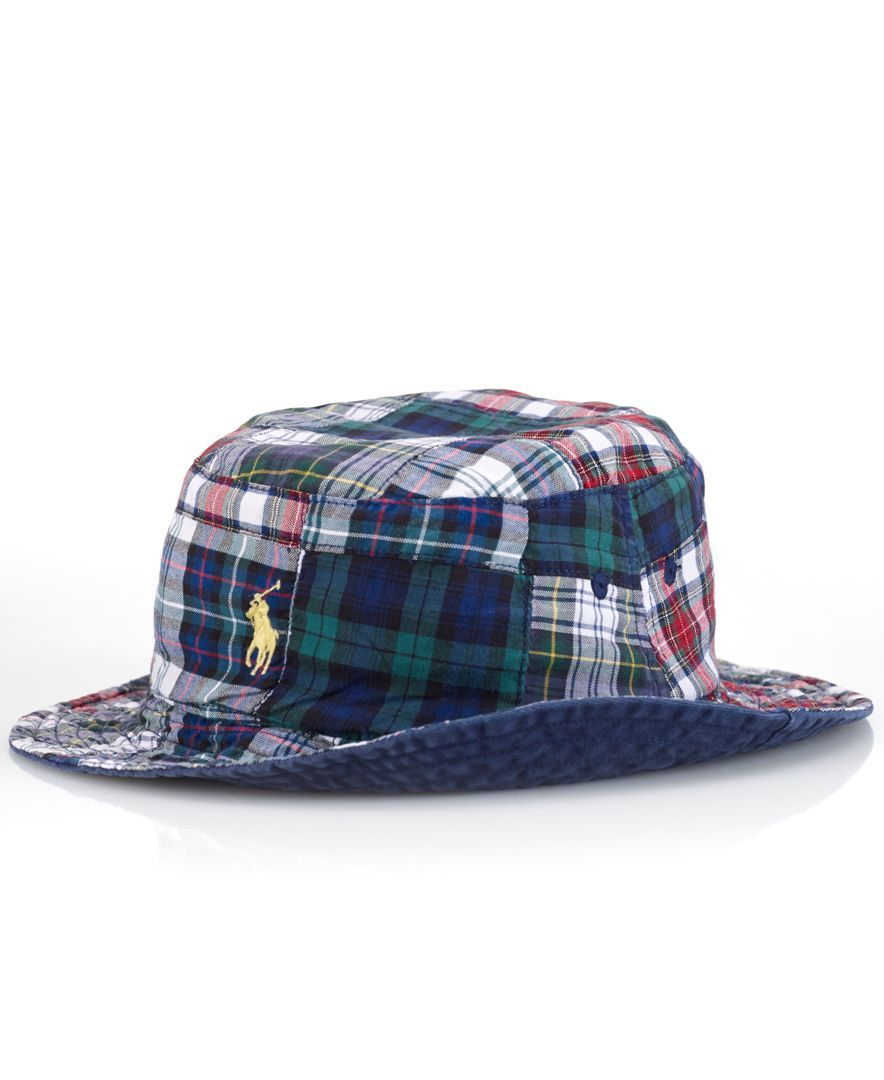 ee5df3b5ff6f5 Polo Ralph Lauren Reversible Plaid Bucket Hat