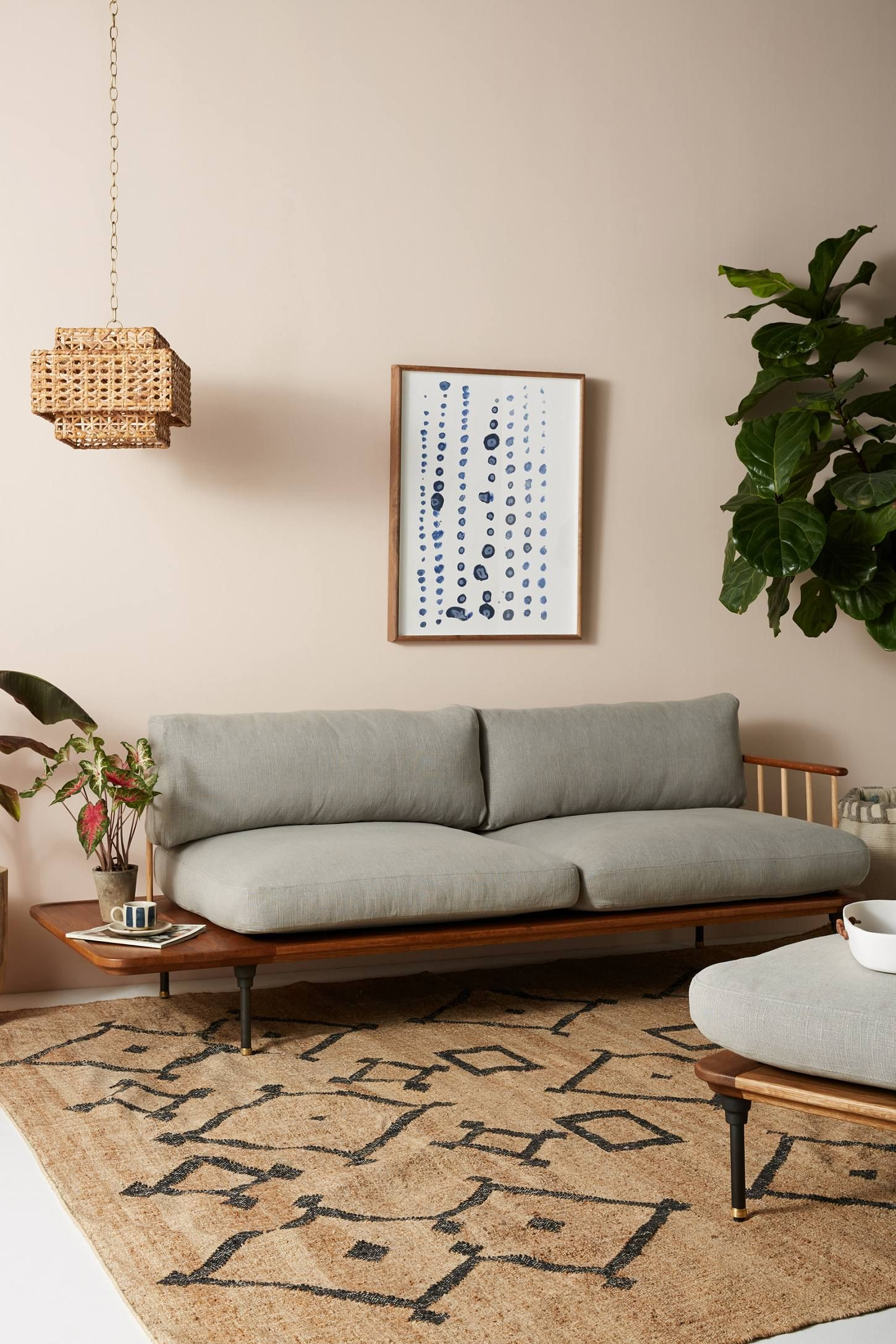 Fine Kalmar Sofa With Side Table Indio House In 2019 Cozy Bralicious Painted Fabric Chair Ideas Braliciousco