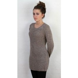 Lang sweater i strukturmønster Charlotte Tøndering Toendering design