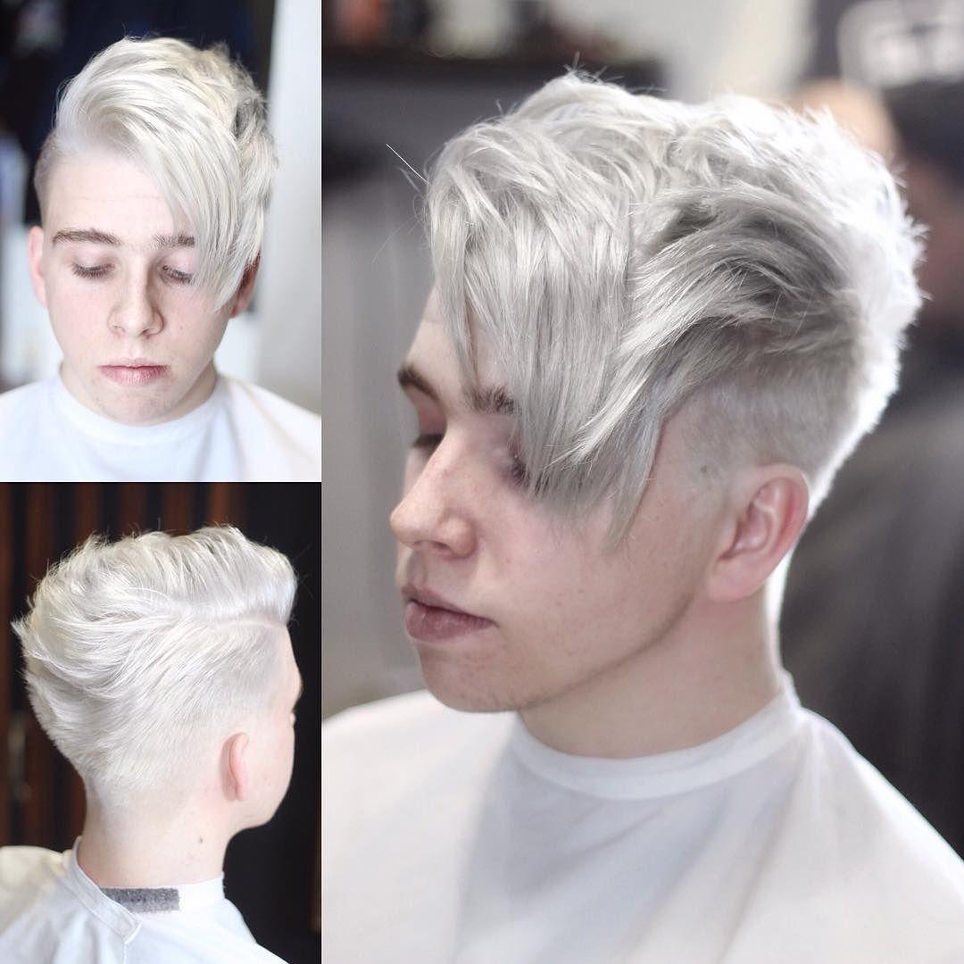Mens haircut buzzed sides long top menshairstyleswidowspeak  mens hairstyles  pinterest  big