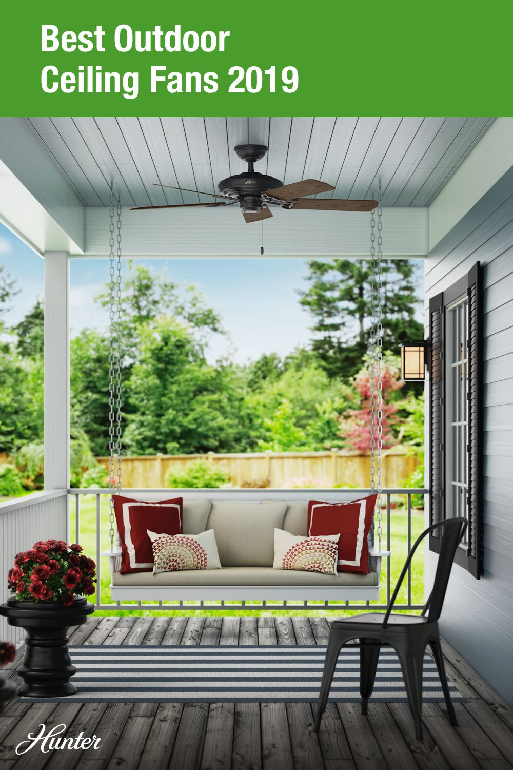 how to use outdoor ceiling fans inside