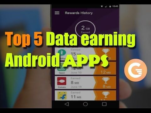 Top 5 Data Earning Android Apps. Free Data Recharge.