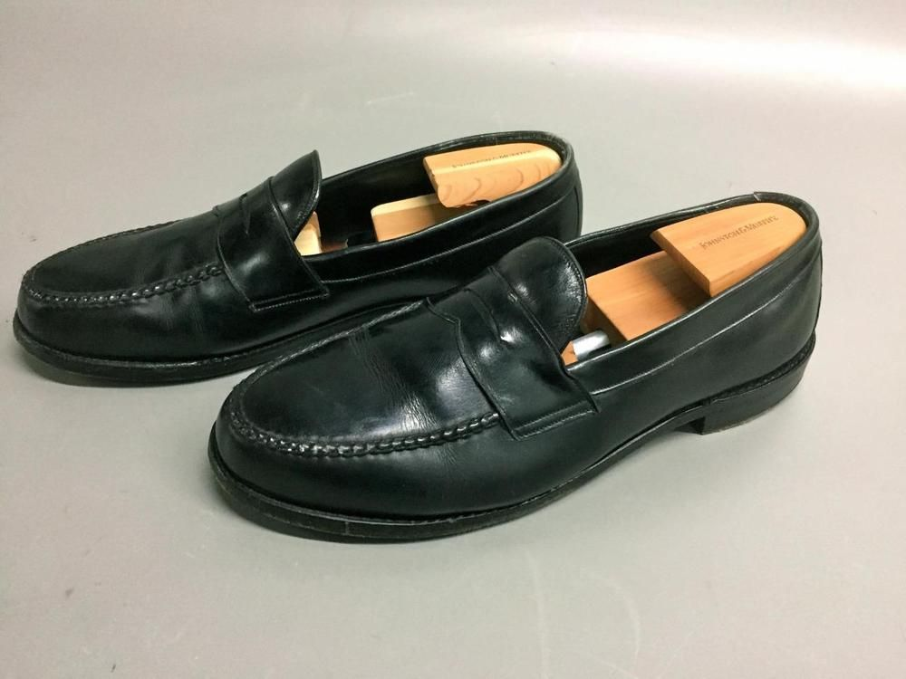 JOHNSTON & MURPHY Crown Aristocraft USA Black PENNY LOAFER Shoes~SZ12 D #JOHNSTONMURPHYBLACK #LoafersSlipOns