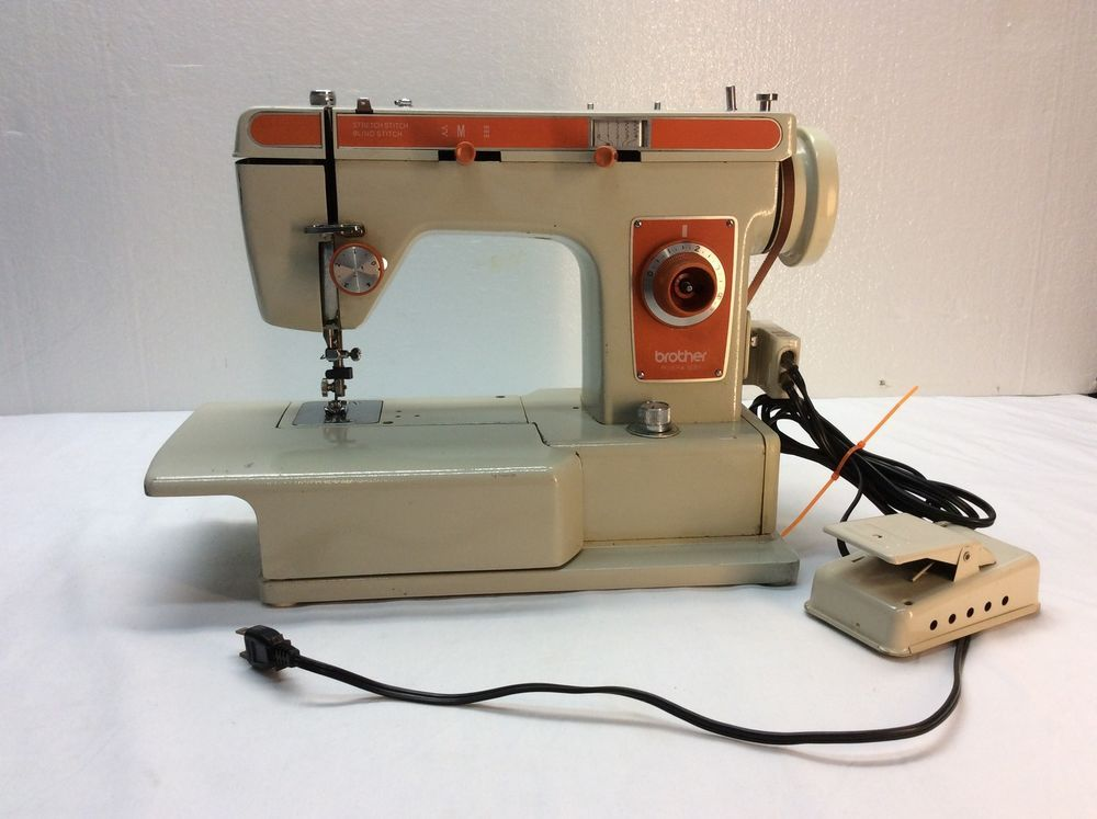 Vintage Brother Riviera 40 Heavy Duty Sewing Machine ORANGE Impressive Sewing Machine Repair Norman Ok