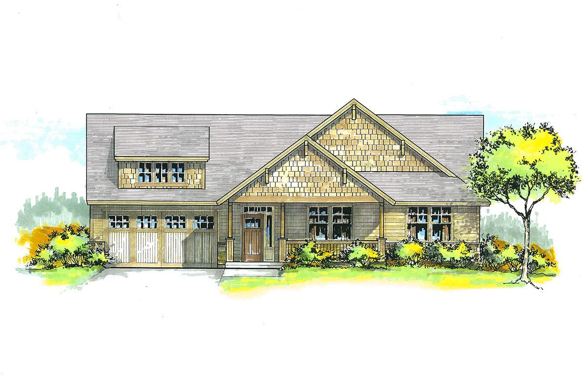 While The Standard Ceiling Height Of This Lovely Craftsman House Plan Is 9 There Are Vaulted Ceilings All Throughout Home