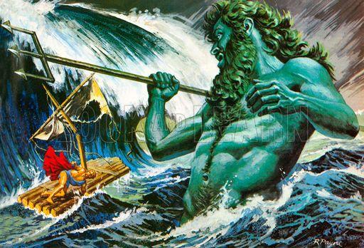 Odysseus Shipwrecked Odysseus And Poseidon Picture