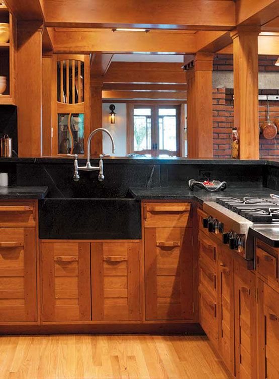 Superior Cabinets With Bold Wood Pulls Are A Handsome Interpretation Of Period  Designs In A New Kitchen In Vermont; Design By Architect Dave Sellers.