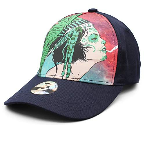 2c4952bb Ann Lloyd Custom Baseball Cap Cannabis Leaves & Skull Printed Baseball  Hat Adjustable Hat Cannabis