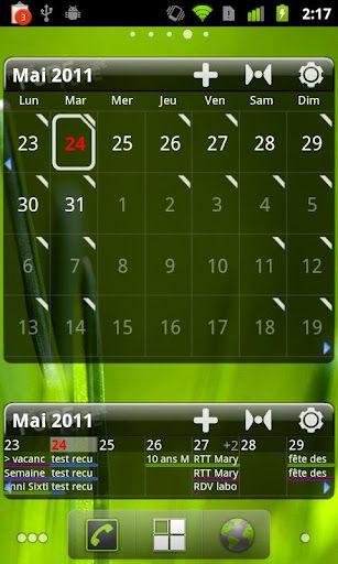 Pure Grid calendar widget v2 4 2 Apk App ~ Free Android