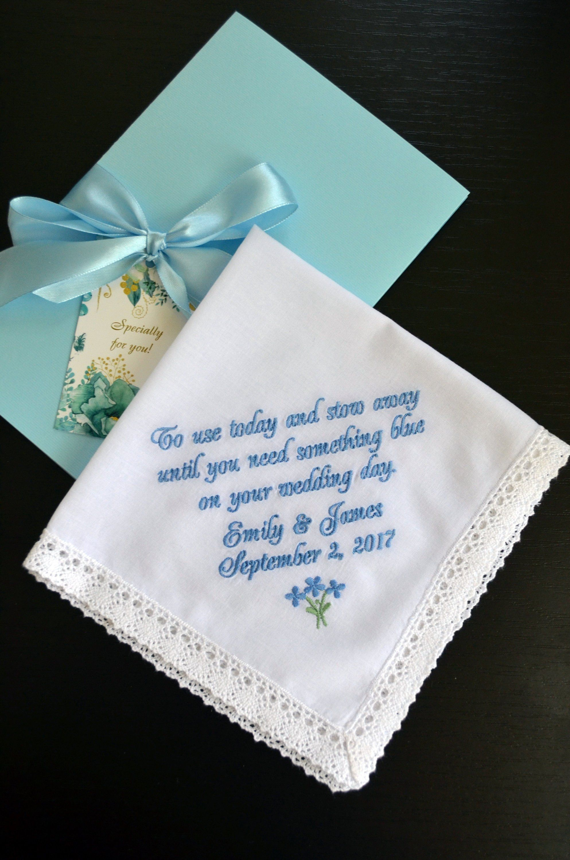 Flower Girl Handkerchief Something Blue Gift Gift For Her Wedding