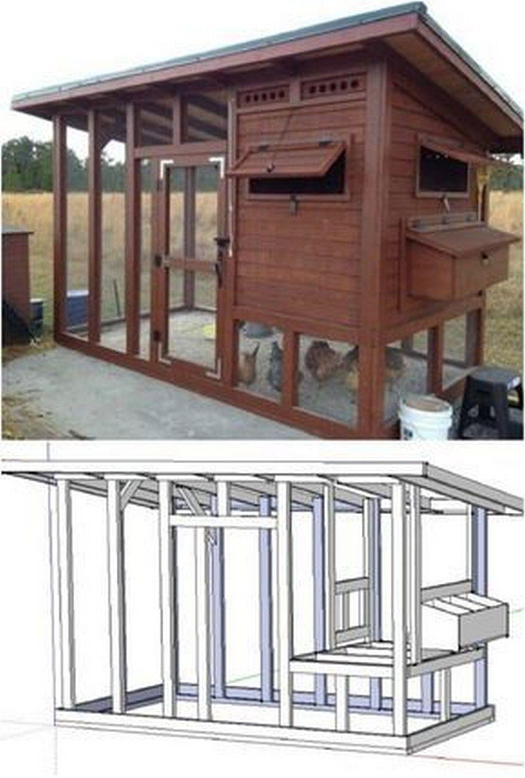 Chicken Coop Plans Pdf Easy 6x8 Diy Chicken Coop Backyard Chicken Coop Chicken Diy Easy Diy Chicken Coop Plans Diy Chicken Coop Plans