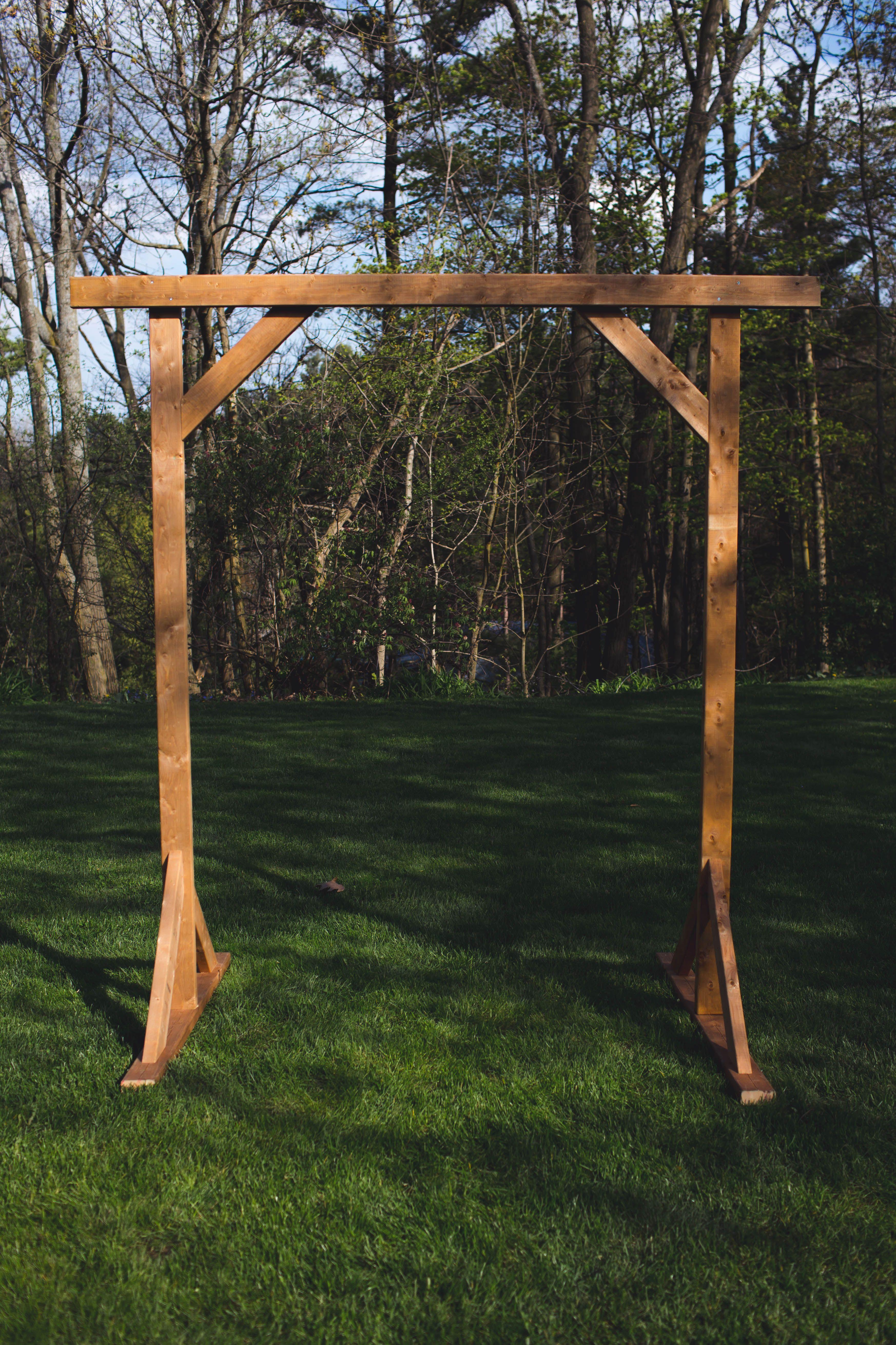 DIY WOOD WEDDING ARBOR Wedding arch rustic, Wedding