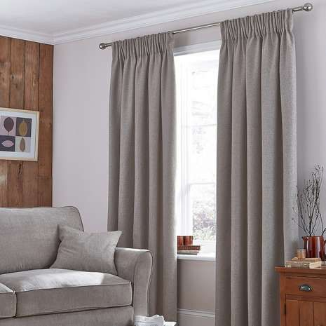 Living Room Ideas Mink harris mink thermal pencil pleat curtains | pencil curtain | tende
