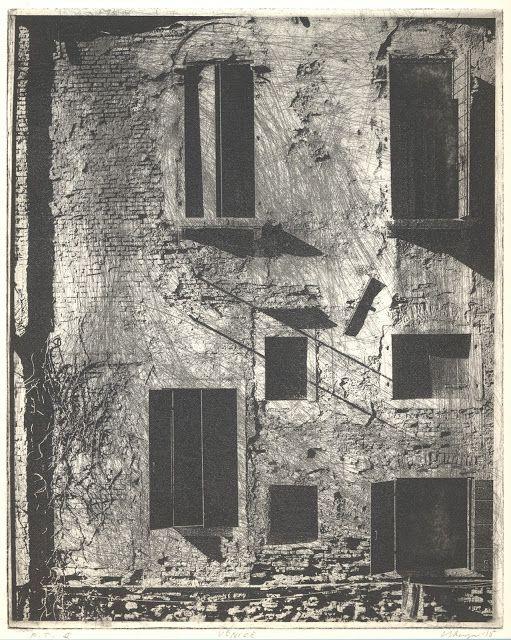 LEIF STRENGELL printmaking | konstgrafik |taidegrafiikka: One Light in Venice