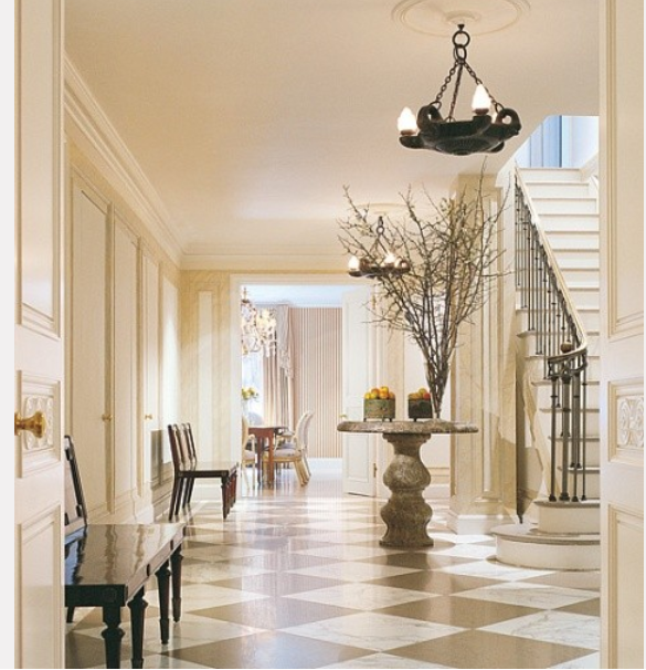 Elegant Mansion Foyers: Elegant Foyer, Love The Large Scale Marble Floors Very