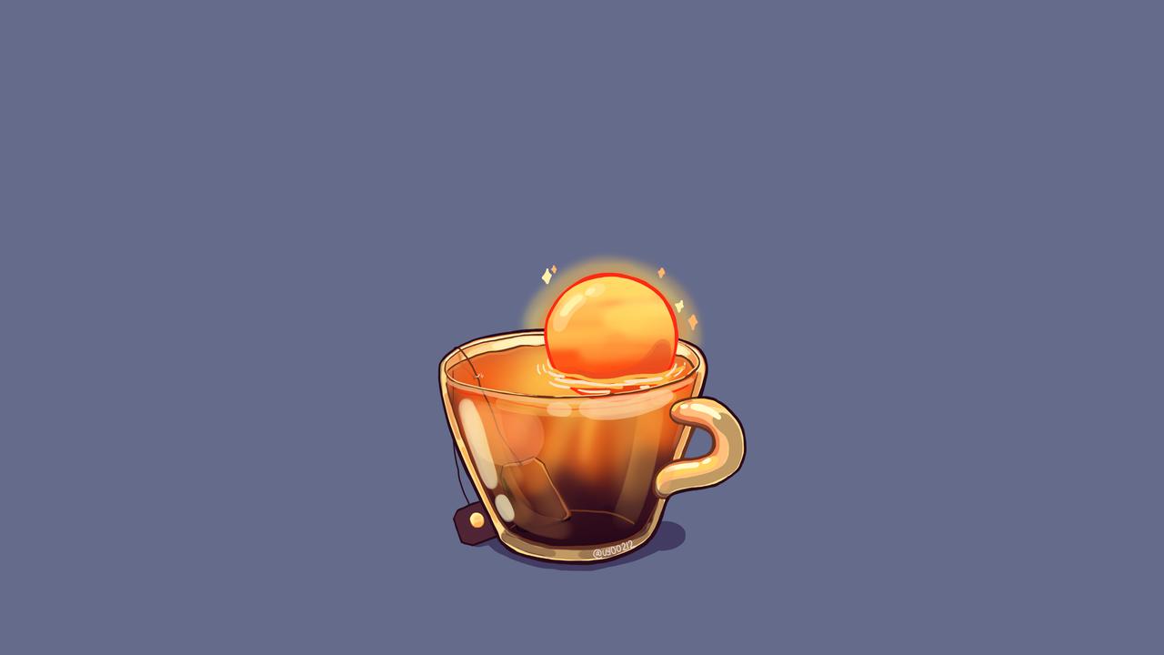 Uyoo — [ Wallpaper of Cup Illustrations Series ] (Phone