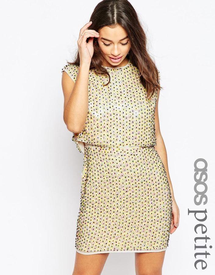 ASOS PETITE 60s Pastel Sweetie Crop Top Mini Dress | Crops ...