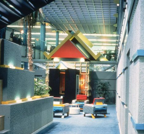 Cool Postmodern Interior Architecture Post Office Interior
