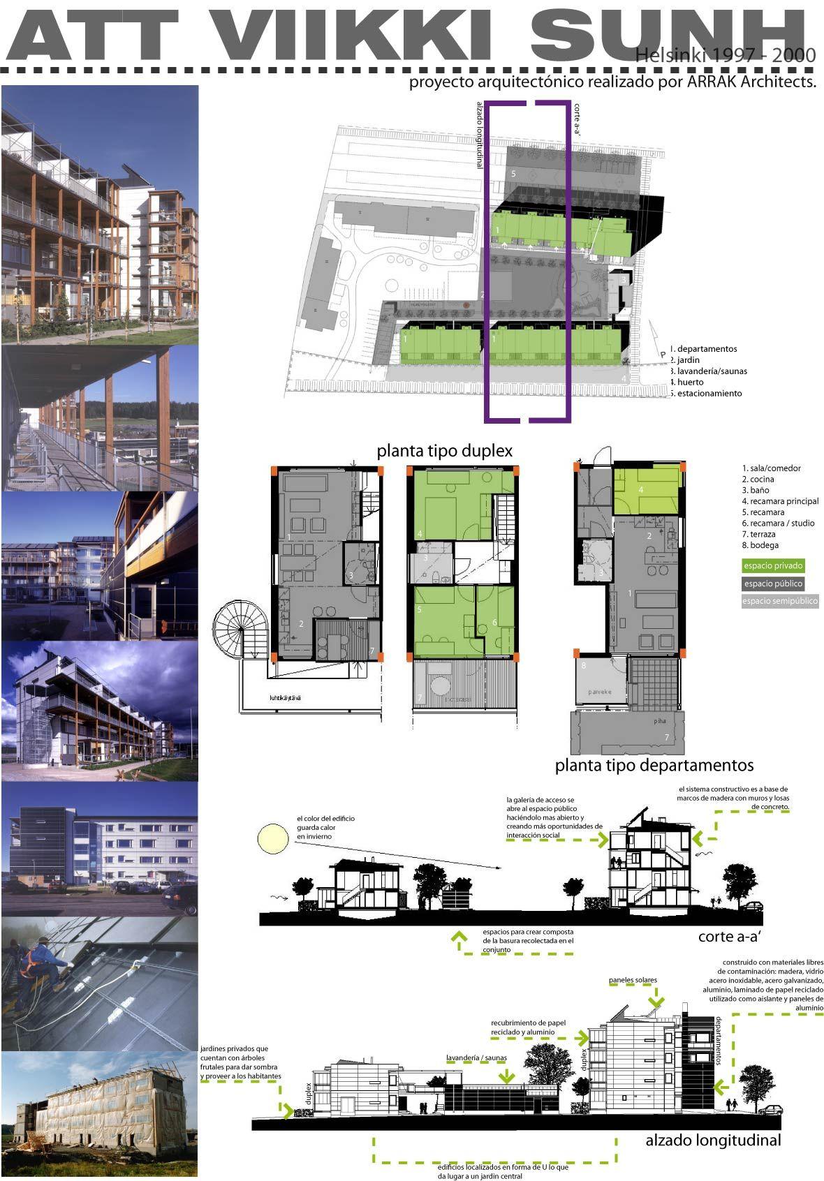 Conjunto residencial proyectado por arrak architects for Laminas arquitectura