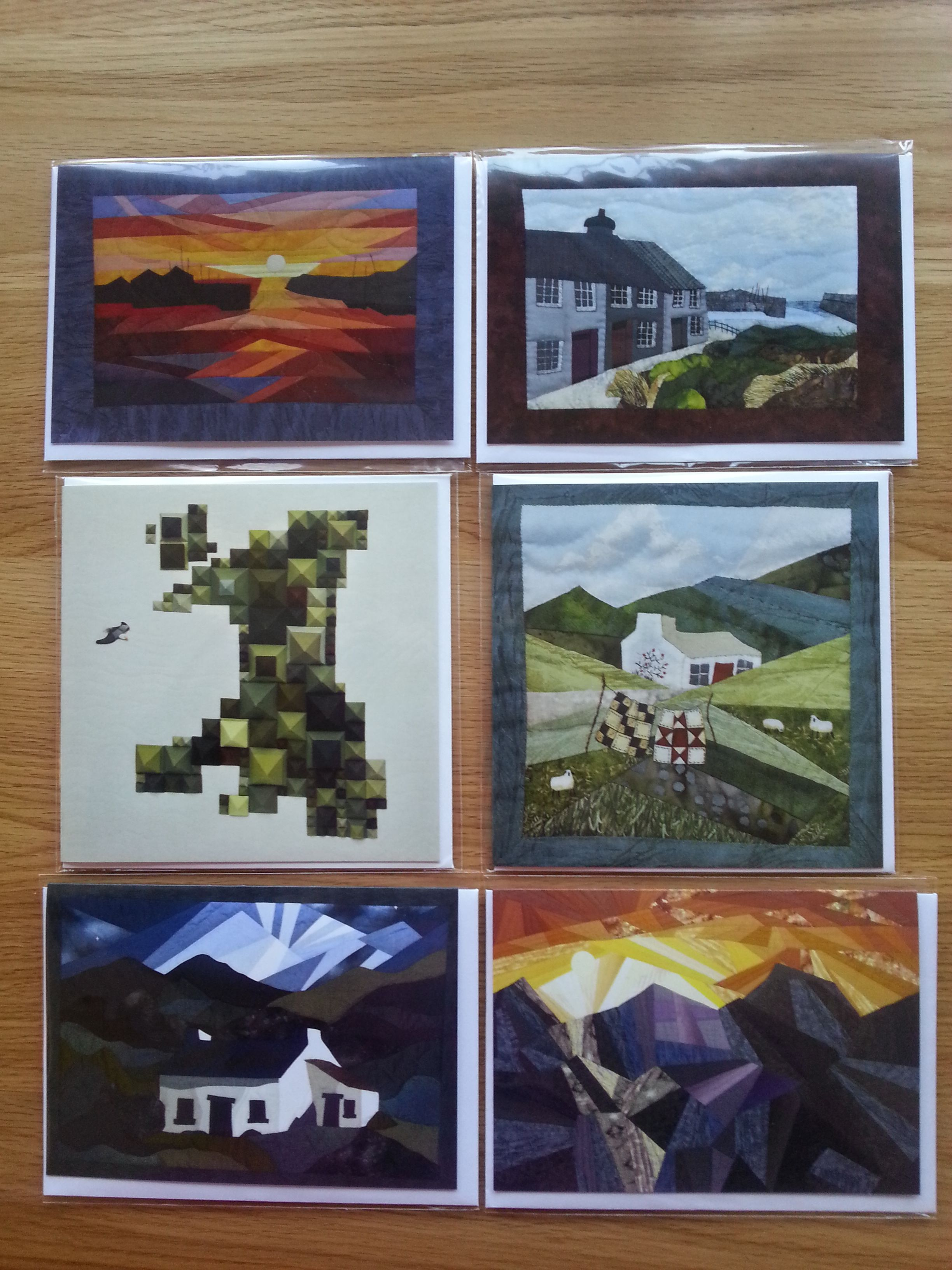 A collection of greetings cards showing unique welsh landscape a collection of greetings cards showing unique welsh landscape patchwork designs very eye catching kristyandbryce Image collections