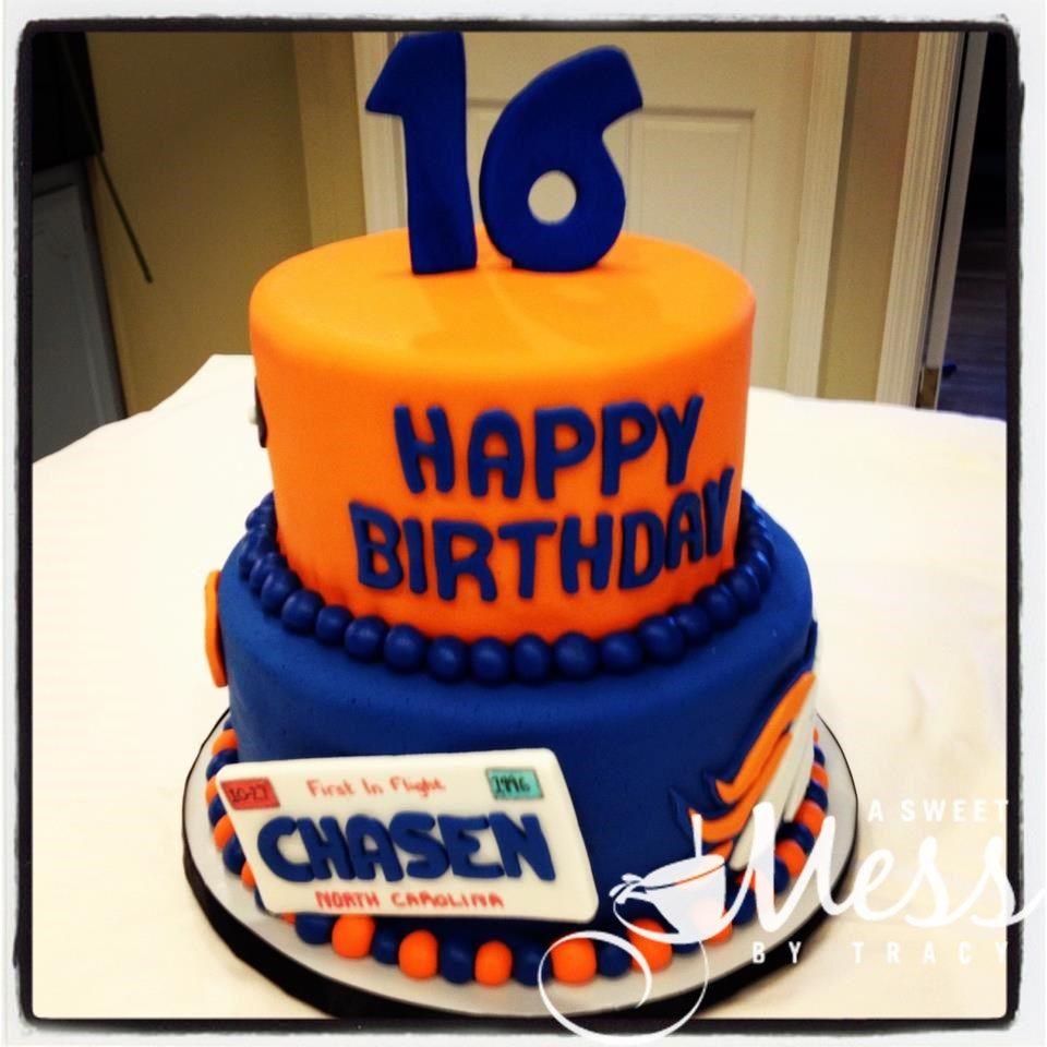Amazing Broncos 16Th Birthday Cake With Images Boys 16Th Birthday Funny Birthday Cards Online Chimdamsfinfo