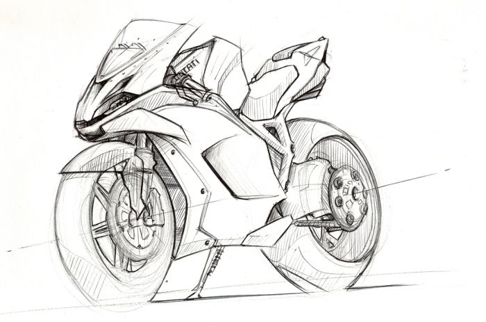 Motorcycles Sketches By Clement Lagneau At Coroflot Com Bike