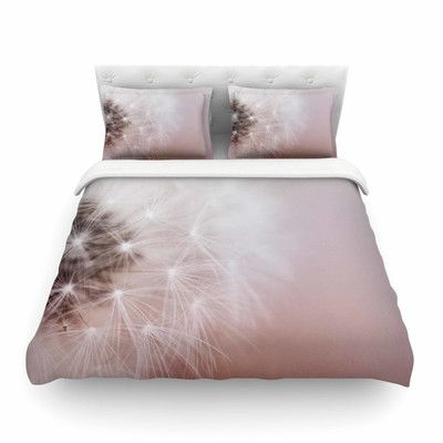 East Urban Home Dandelion Dreams Floral by Chelsea Victoria Featherweight Duvet Cover Size: