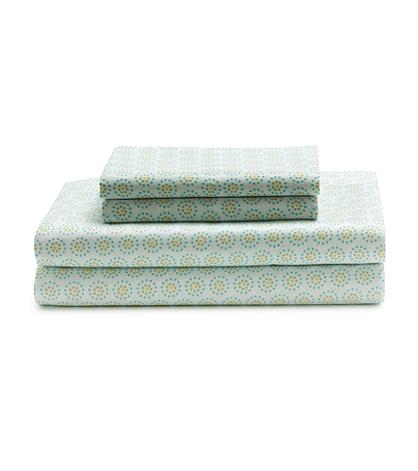 Livingquarters Cool Dots Touch Select Percale Sheet Set Bon Ton