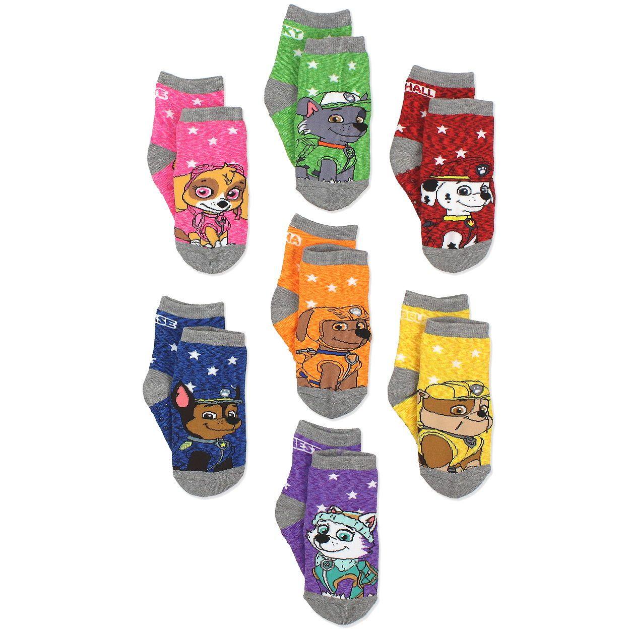 Rubble und Chase 6er Pack Neu Paw Patrol Socken für Jungen mit Marshall Rocky
