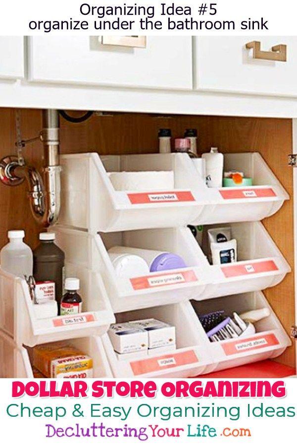 Dollar Store Organizing Bathroom Organization Ideas On A