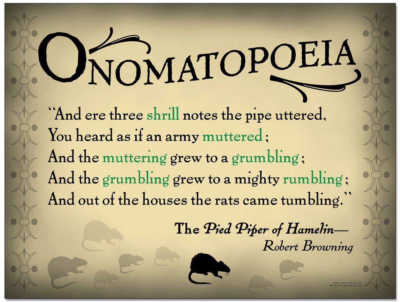 """Onomatopoeia - Quote """" Pied Piper Of Hamelin"""""""